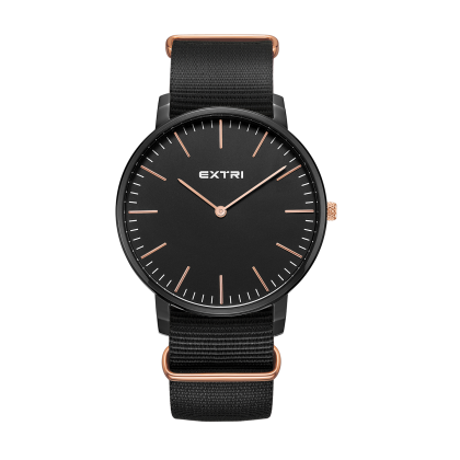 Black case/dial nylon strap