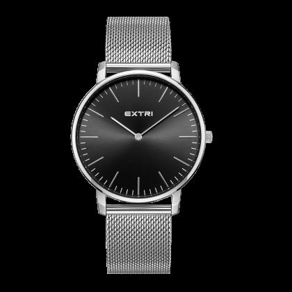 Black dial Silver case /mesh