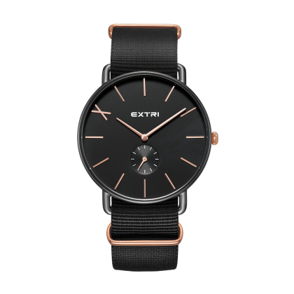 black case dial black nylon