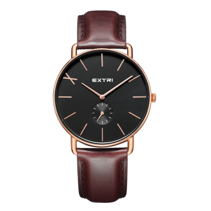 Rosegold black brown black leather