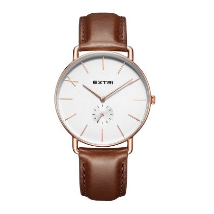 rosegold case light brown leather