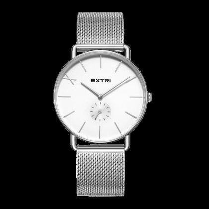 White dial silver case/mesh